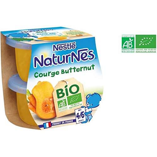 NESTLÉ Naturnes Bio courge butternut - 2x130 g - Des 4/6 mois