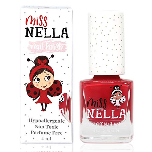 Miss Nella CHERRY MACAROON- Spezieller Rosa Nagellack für Kinder, Peel-Off-Formel, wasserbasiert...