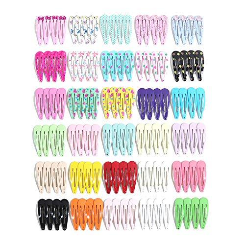 Queta 120 Piezas Clips de Pelo para Niñas, Horquillas coloridas para Niña, Horquillas Metal Infantiles Clip Pinza Dulce de Pelo Accesorios para el cabello Regalo para Niños