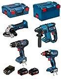BOSCH Kit PSG4M2C (GBH 18V-EC + GSB 18-2-LI + GWS 18V-LI + GDX 18V-EC + 2 x 4,0Ah + AL1860CV + L-Boxx 238 + L-Boxx 136)
