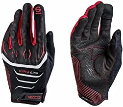 Sparco 002094NRRS08 002094nrrs08HyperGrip Gloves, Black/Red