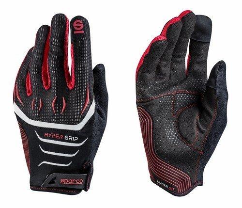 Sparco 002094NRRS10 Handschuhe Hypergröße 10 R, schwarz/rot, M