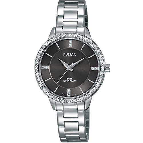 Pulsar Ladies Stainless Steel Stone Set Bracelet Watch