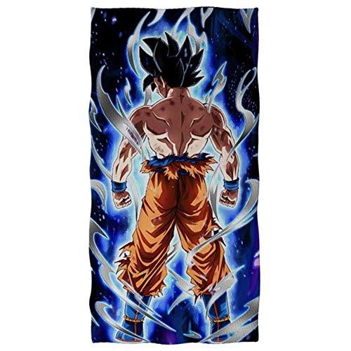 Cool Goku Dragon Ball Z Manta Soft Bath/Beach Towel Anime DBZ Harajuku Print Textile Hand Towwel Thicken Travel Towel, Htd293,35X75Cm - Z30