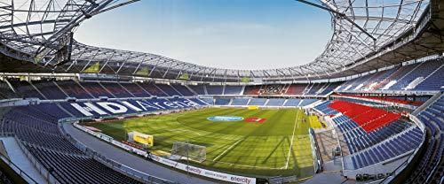 Hannover Stadion Panorama - Poster 120 x 50 cm - hochwertiger FineArtPrint