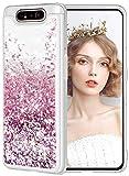 wlooo Samsung Galaxy A80 Hülle Glitzer, Handyhülle Samsung Galaxy A90 Glitzer, Flüssig Mädchen Frauen Treibsand Hülle Weich TPU Bumper Silikon Schutzhülle Hülle Cover für A80/A90 (Roségold)