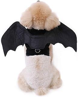 Ohana ペット用品 ハロウィン 犬猫用変身服 コウモリ バットの翼 おしゃれ 面白い かわいい コスチューム コスプレ 小悪魔仮装 アクセサリー ブラック L