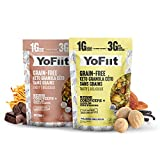Keto Cereal. Low Carb Granola. Net Carbs Only 3g. Dairy-Free (Vegan), Gluten-Free. Paleo Friendly. No Sugar Alcohols. No Stevia. 10oz each. (Chocolate and Vanilla-Nutmeg 2-pack)