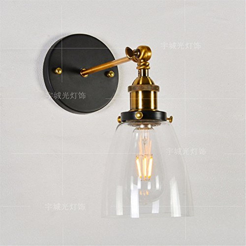 Firsthgus E27 Wandlampe Single Head Glaswandleuchte Cafe Restaurant Bar Dekorative Wandleuchte Schlafzimmer Nachtwandleuchte Beleuchtung