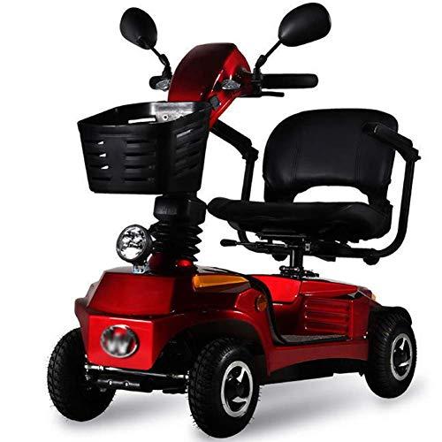 Scooter eléctrico plegable y cuatro ruedas del vehículo eléctrico para la capacidad de transporte de minusválidos eléctrico para ir de compras y fácil aparcamiento reposabrazos que puede abrirse,3