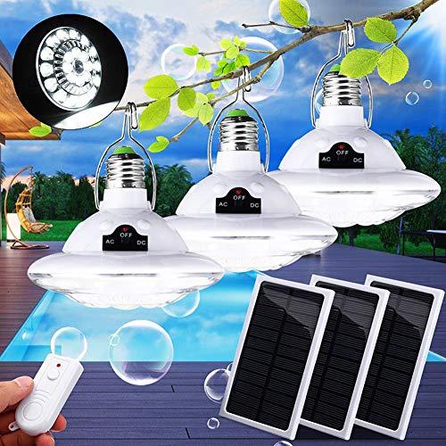 LAMP-XUE zonne-energie LED lamp lantaarn met zonnepaneel en afstandsbediening 22LED tent camping lamp voor wandelen vissen noodlampen (3 PCS)