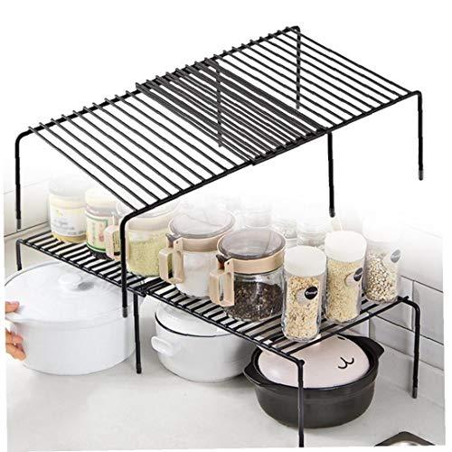 Nicetruc Küchenschrank Regal Drahtgestell Freistehende Küchenregal Lagerregal Erweiterbares Regal Für Küchenschränke, Arbeitsplatten, Küchenschränke