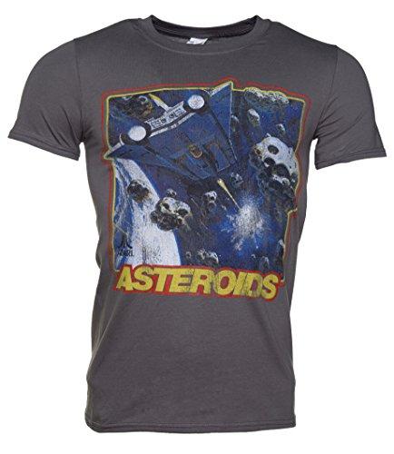 Atari Asteroids Charcoal T-shirt by Truffleshuffle for Men