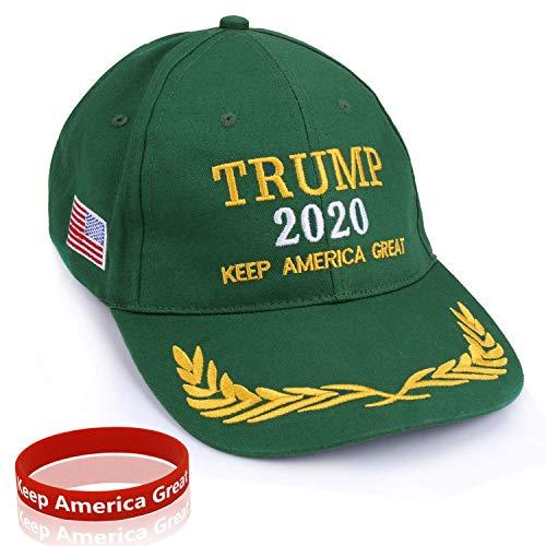 Sumyer MAGA Trumpf Hut, Donald Trump Cap, halten amerikanischen großen Hut Trump 2020 mit Armband (Green)