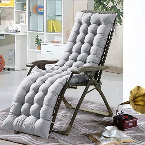 Bhu Lounge Chair Cushions, Chaise Lounge Cushion Patio Chair Cushions Outdoor Mattress Garden Sun Lounger Recliner Indoor Veranda (Black),Grey