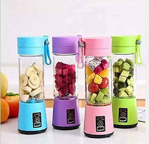 buddies cart portable rechargeable electric mini professional juicer mixer grinder fruit juice machine jar 380ml bottle smoothie maker hand blender baby food processor protein shaker blend small fruits for kitchen office travel multicolor.