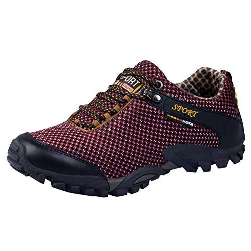 XJWDNX Heren slipvaste ademende wandelschoenen mesh outdoor sneakers klimschoenen sportschoenen Quick-Dry werkschoenen