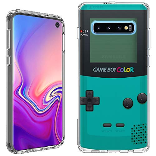 Galaxy S10 Case [Gameboy Mint](Clear) PaletteShield Flexible Slim TPU Skin Phone Cover (fit Samsung Galaxy S10)