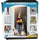 Flux Phenom Reinforced Magnetic Screen Door - Fits Doors up to 38 x 82 Inches (Black)