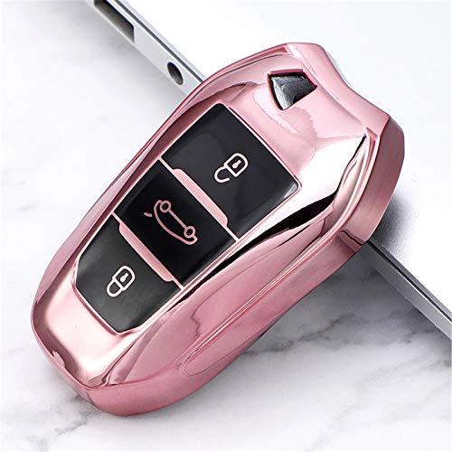 Funda Suave de TPU para Llave de Coche, para Peugeot 308, 408, 508, 2008, 3008, 4008, 5008, paraCitroen C4 C4L C6 C3-XR, Accesorios de Carcasa Inteligente