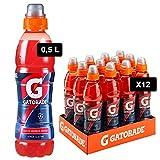 Gatorade, Sport Drink, Bevanda sportiva non Gassata Gusto Arancia Rossa, Aiuta il Reintegro dei Sali Minerali Persi, Formato da 12x500 ml