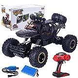 Coche de control remoto, 2.4G 4WD RC Radio de coche Control remoto eléctrico Drift Car Control remoto Buggy Offroad Juguete regalo para niños y adultos (negro)