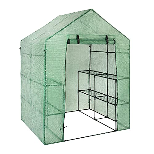 mooderf Garden Shed Plant Nursery HouseMini Greenhouse With Transparent Plastic PVC Cover, Indoor Outdoor Tent Garden Greenhouse With Transparent Plastic PVC Cover Seedlings
