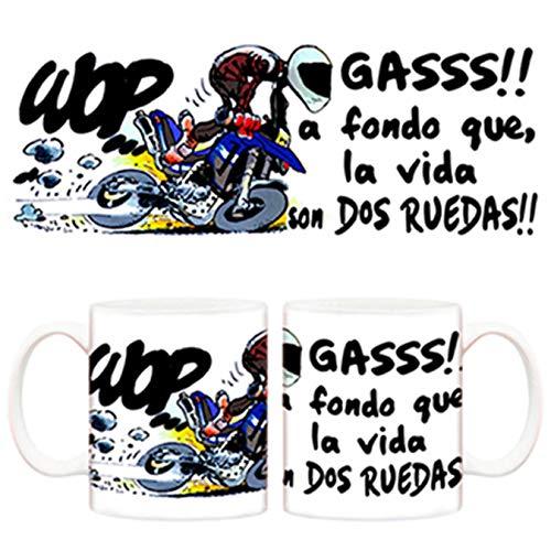 Diver Tazas Taza de Motero Gas la Vida Son 2 Ruedas - Cerámica