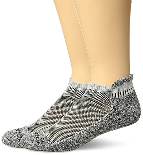 Terramar Performance Outdoor Cool-Dri Pro Tab Ankle 2Pk Sock With A Helicase Sock Ring Size: M - White
