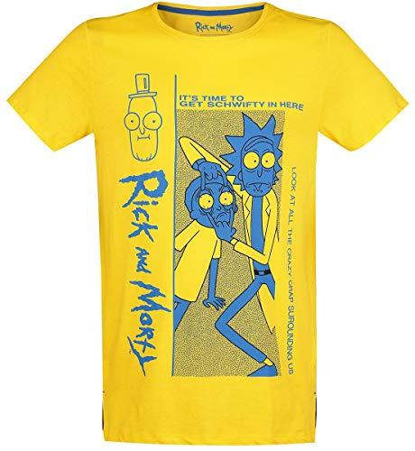 Rick and Morty Crazy Crap T-Shirt gelb L