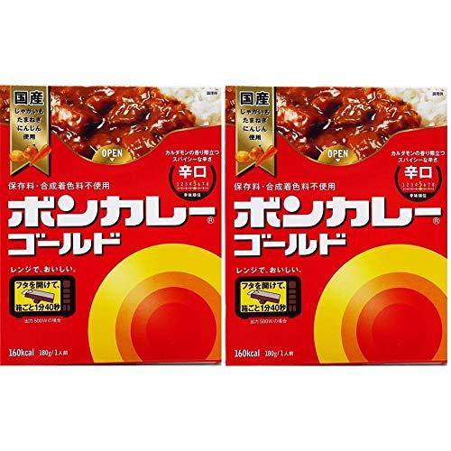 大塚食品 ボンカレー ゴールド 辛口 送料 無料 レトルトカレー 1食 180g×2個 価格 630 円 辛口カレー