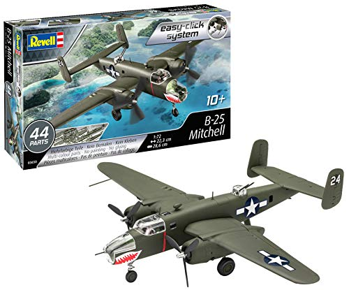 Revell-B-25 Mitchell, Escala 1:72 Kit de Modelos de plástico, Multicolor (3650)