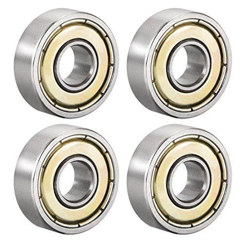 uxcell 607ZZ - Rodamientos de bolas con doble escudo 607-2Z