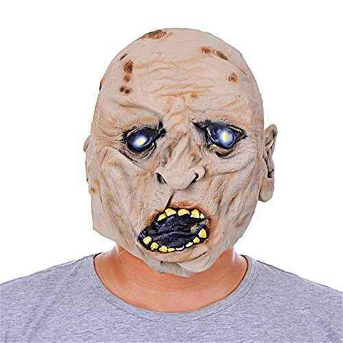 ZSMPY Maschera Horror Fantasma Faccia Maschera Diavolo Marcio Testa in Lattice Pullover Masquerade Dress Drama Party Puntelli Orribili