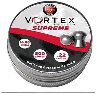 Hatsan Vortex Supreme Air Gun Pellets 22 Caliber 14.66 Grain Round Nose Tin.
