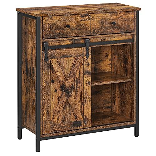 VASAGLE COBADO ULSC100B01 - Armario de almacenamiento, mesa de buffet, aparador y mueble de TV, armario de piso con 1 cajón y puerta...