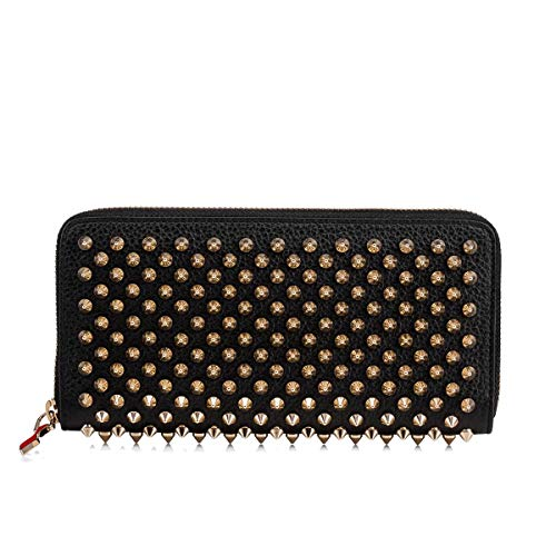 Luxury Fashion | Christian Louboutin Dames 1185059CM6S Zwart Leer Portemonnees | Seizoen Permanent