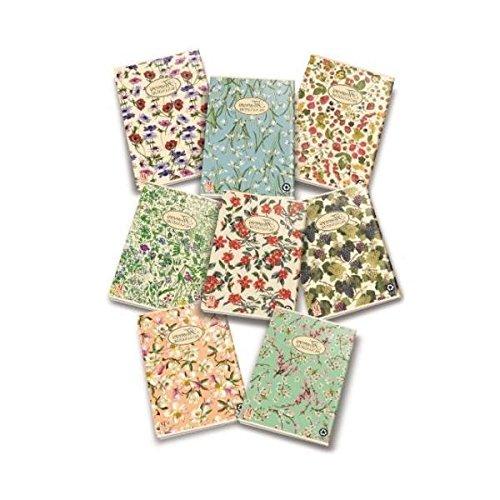 Pigna Nature Flowers 02088361R, Quaderno formato A4, Rigatura 1R, righe per medie e superiori, Carta riciclata 80g/mq, Pacco da 10 Pezzi