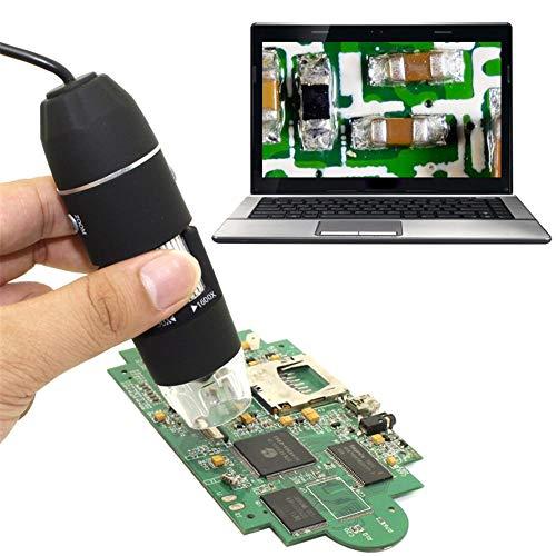 1600X USB-Mikroskop, Vergrößerungsendoskop, USB-Digitalmikroskopkamera, 8 tragbare LED-Mikroskope (2 in 1) mit professionellem Ständer und Korrekturlineal