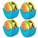 NANUNU - Soporte para hamburguesas reutilizable (4 unidades)