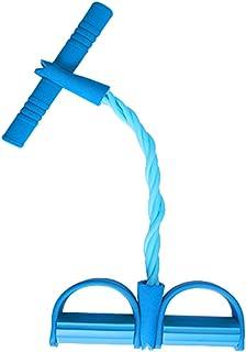 シットアップフィットネス機器ホームスポーツ足首ラリー女性補助薄いウエスト弾性ロープテンションベルト (色 : 青)