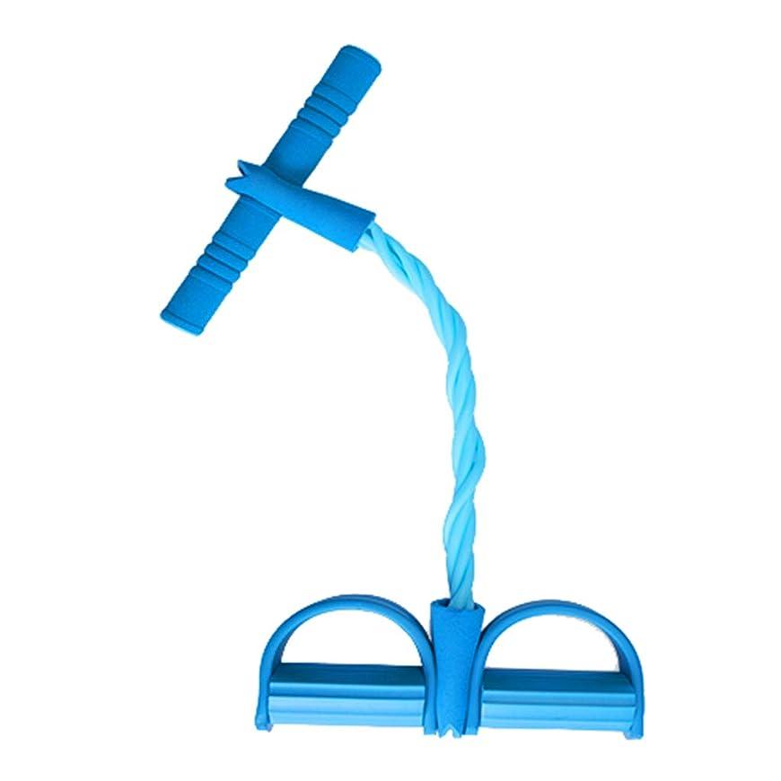 レイアアルネ二シットアップフィットネス機器ホームスポーツ足首ラリー女性補助薄いウエスト弾性ロープテンションベルト (色 : 青)