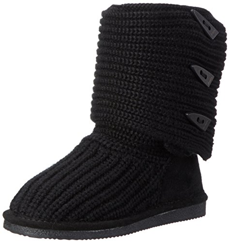 BEARPAW Women's Knit Tall Winter Boot, Black, 8 M US