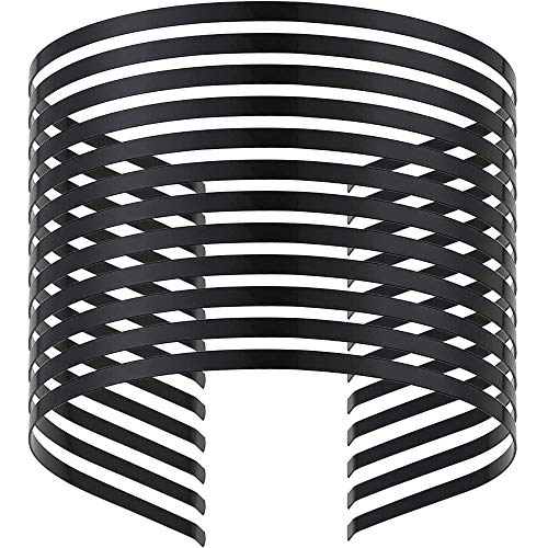 Onwon 12 Pieces Smooth Metal Headbands Frames in Black Tone for DIY Tiara Base Blank Hairband Head Bands 3mm
