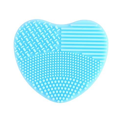 Limpiador de brochas de maquillaje, limpieza de brochas de maquillaje, cepillo de maquillaje, mantiene la piel limpia, portátil y conveniente (azul)
