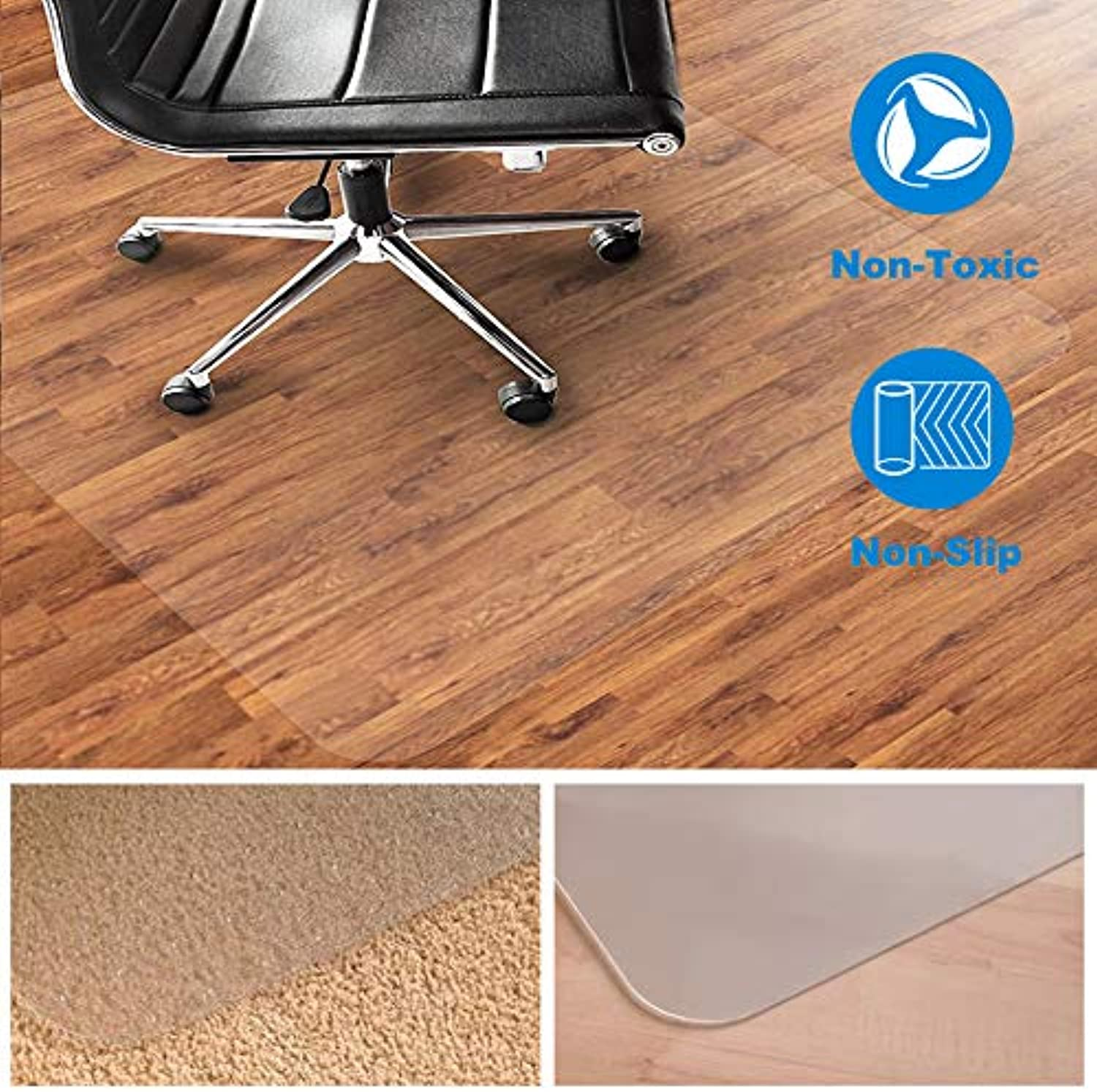 Chair or table mat for Floor Predection, Rectangular and Transparent,Multi-sizes (30''x39'')