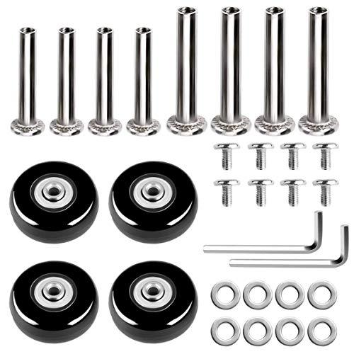 VILLCASE 30 piezas de ruedas de repuesto para maletas, maletas, herramientas de reparación de ruedas de goma, kit de accesorios de equipaje con tornillo