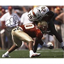 Stanford Samuels Autographed Florida State FSU Seminoles (Horiz vs Miami) 8x10 Photo