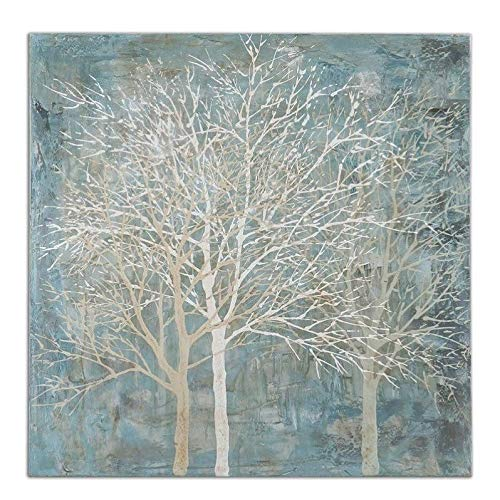 Uttermost Muted Silhouette Hand Painted Frameless Canvas Art