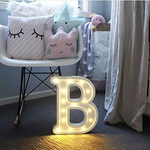 Relaxbx 26 Buchstaben Weiße LED Nachtlicht Kunststoff Festzelt Zeichen Tischlampe Für Geburtstag Hochzeit Schlafzimmer Wandbehang Dekor Drop Ship